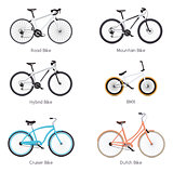 Vector bicycles set