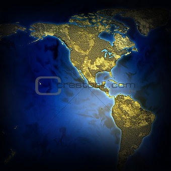 abstract map of the earth 2D illustration