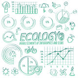 Ecology Doodle Infographic Elements
