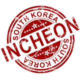 Red Incheon stamp