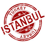 Red Istanbul stamp
