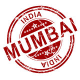 Red Mumbai stamp