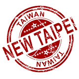Red New Taipei stamp