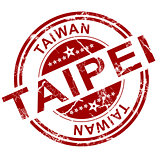 Red Taipei stamp