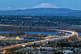 Interstate 205 Freeway over Columbia River Blue Hour
