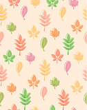 Seamless pattern from autumn leaves.