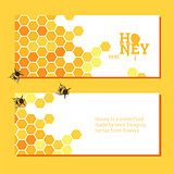 Honeycombs bright background