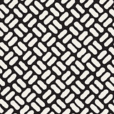 Vector Seamless Black And White Hand Drawn Diagonal Pavement Pattern