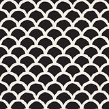 Vector Seamless Hand Drawn Rounded Lines Oriental Pattern