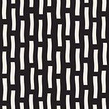 Vector Seamless Black And White Hand Drawn Vertical Lines Pattern