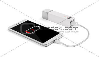 Smartphone charging with external battery