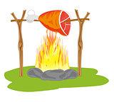 Ham on campfires