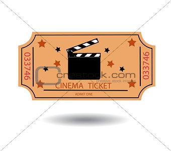 cinema tickets vector illustration