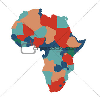 Africa map vector illustration art on white background