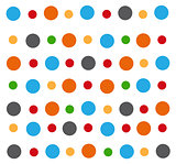colored circle seamless pattern