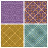 Seamless pattern set. Purple background