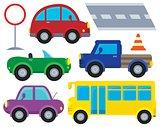 Car and transportation theme set 1