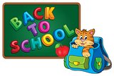 Cat in schoolbag theme image 3