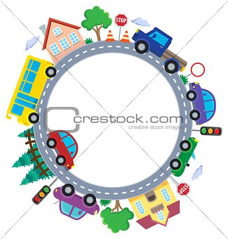 Circle with cars theme image 1