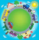 Circle with cars theme image 2