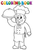Coloring book chef theme 1