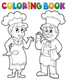 Coloring book chef theme 2