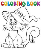 Coloring book Halloween cat theme 2