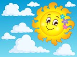 Happy spring sun theme image 2