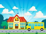 School and bus theme image 2