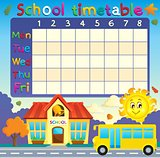 School timetable with school and bus