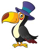 Toucan with hat theme image 1
