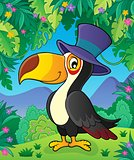 Toucan with hat theme image 2