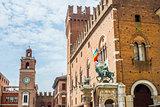 Ducal Palace of Estense in Ferrara. Emilia-Romagna. Italy.