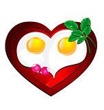 lovely heart omelette