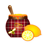 sewing lemon and honey