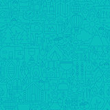 Adventure Camp Line Tile Pattern