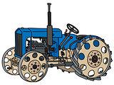 Vintage blue tractor