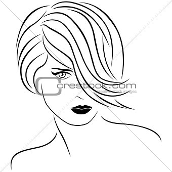 Attractive woman with stylish short hairstyle