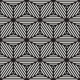 Vector Seamless Black And White Cube Lines Grid Pattern