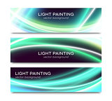 Set of horizontal banners for website or flyer