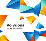Premium low poly geometric banner design concept