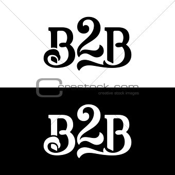 B2B logo vector design template on white and black