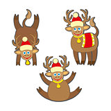 Christmas reindeer vector illustration.