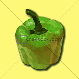 Green polygonal capsicum.