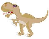 Ravenous prehistorical dinosaur