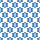 Seamless Blue Snowflake Pattern