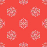 Creative Ornamental Seamless Red Pattern