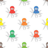 Octipus Animal Seamless Pattern