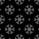 Creative Ornamental Seamless Grey Pattern