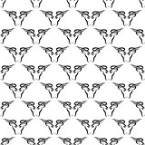 Bull Head Icon Seamless Pattern